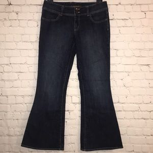 The Limited wide leg jeans  dark wash 8